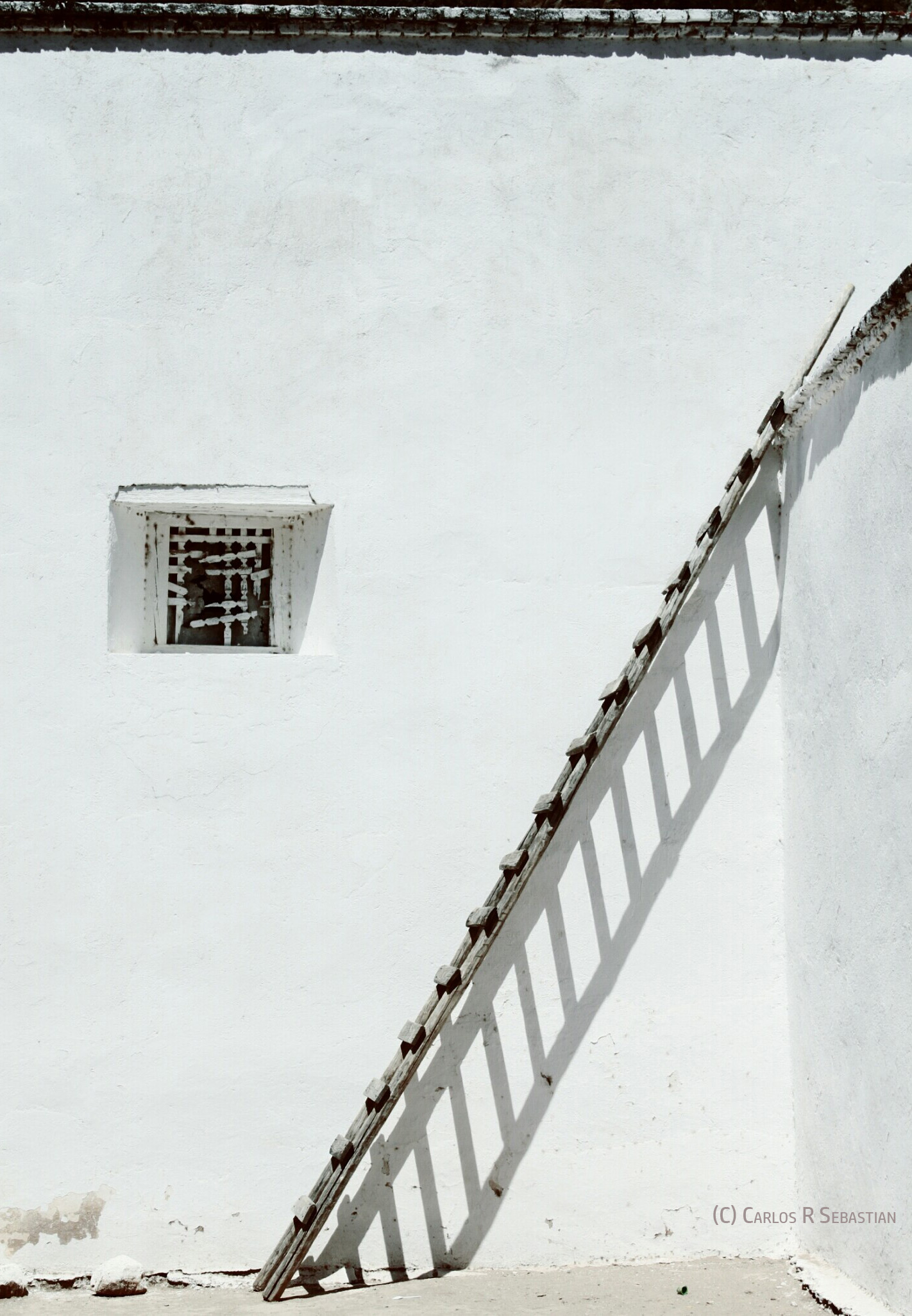 Taking responsibility on our actions is a powerful step to start effecting change in our lives - Image: A wooden ladder against  white wall (copyrighted)